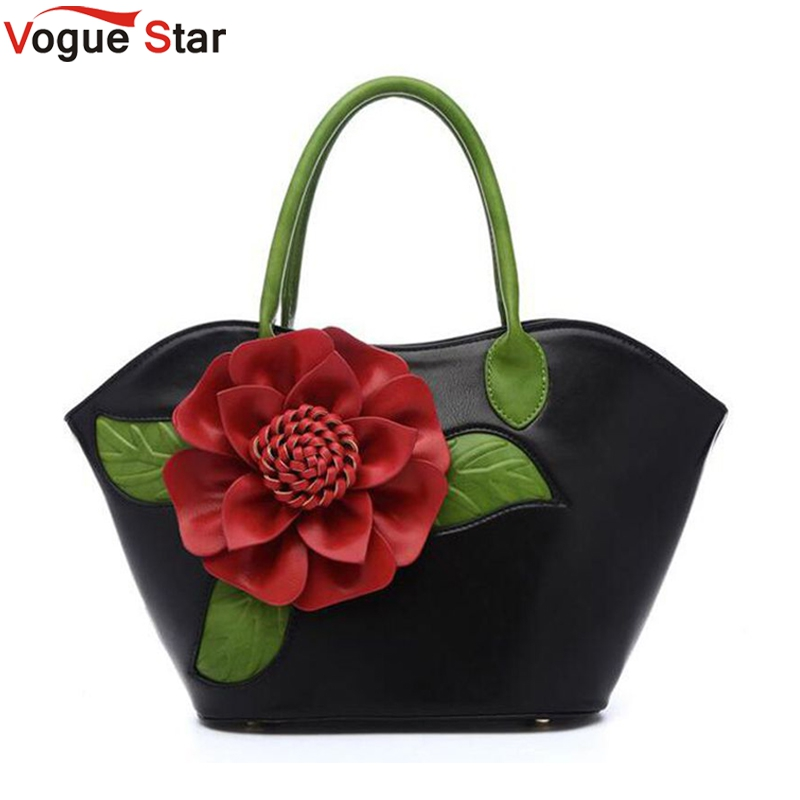 Vogue Star 2017 New Flower Women Bag High Quality PU leather Handbags Valentines Gifts For Woman Fashion Messenger Bag LA467<br>