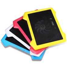 2017 New 2 USB Laptop Cooling Pad Notebook Stand fits 9-17 inch PC Laptop cooler 12 14 15 17 inch 1 Big fans Cooler silence LED