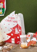 "100pcs/lot Size 18*35cm(7""*14"") Christmas decoration package gift bag Shopping plastic Bag with handle house picture bag(China)"