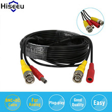 Hiseeu Cable BNC Video Power Siamese Cable 32ft 5M 10M 18M for Analog AHD CVI CCTV Surveillance Camera DVR Kit Dropshipping(China)