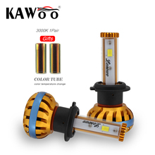 KAWOO H7 Car LED Headlights 72W 8000lm Automobile Bulb Headlamp DIY Change Color Temperature 6500K 3000K 8000K Fog Light 12V