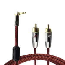 "Audio Cable Angle 1/8"" 3.5mm Mini Jack to 2 Straight RCA PC Phone AUX Amplifier Speaker RCA 3.5 Cable OFC 1M 2M 3M 5M 8M(China)"