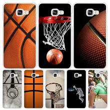 Basketball dark Hard White Coque Shell Case Cover Phone Cases for Samsung Galaxy A3 A5 A7 2016 2017 A8 A9