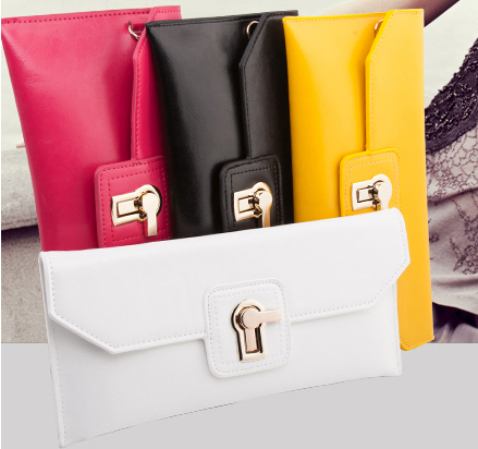 2018 Hot Sale New Arrival Fashion Genuine Leather Solid Handbags Womens Day Clutches Bags Card Protector Quality Brand HB279<br>