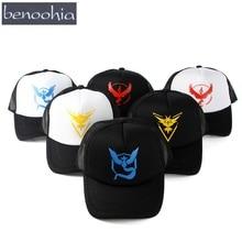 BBS023 Hot Casual Pokemon Mesh Baseball Cap Women Adult Snapback Hats Casquette Gorras Caps