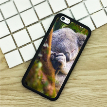 Soft TPU Phone Cases For iPhone 6 6S 7 Plus 5 5S 5C SE 4 4S ipod touch 4 5 6 Cover Shell Sleeping Koala Bear Australia