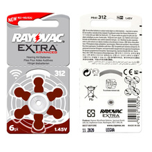 RAYOVAC EXTRA 60 PCS Zinc Air Performance Hearing Aid Batteries A312 312A ZA312 312 PR41 Hearing Aid Battery A312 Free Shipping(China)