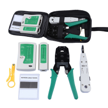 DBDBPOWER Network Ethernet Cable Tester RJ45 Kit RJ45 Crimper Crimping Tool Punch Down RJ11 Cat5 Cat6 Wire Line Detector