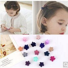 10 PC Flower Hair claw Clamp Hair Clip Mini Hairpins child girl hair ornaments cute girls baby  Hair Accessories