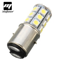 1 PC BA20D H6 24 LED SMD Motorcycle Moped ATV PIT Headlight Bulb 6000K 12V MotorBike Passing Light(China)