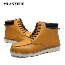 2016 Winter Fashion Boots Men Keep Warm Snow Boots New Plush High Help Flat With Martin Boots Casual Cotton Shoes
