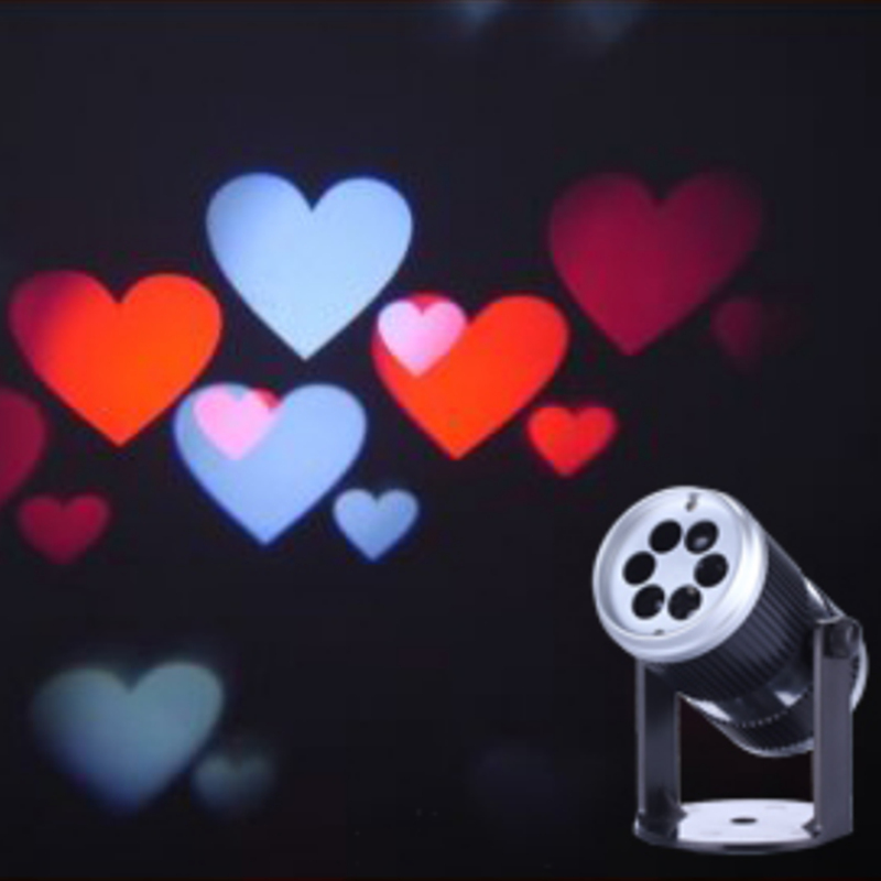 1X new arrival 2016 indoor Valentines Day led light projector, heart-shaped projectors, mini colorful love lights sound control<br>