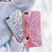 Buy STROLLIFE Luxury Shining Sequins Glitter Phone Cases iPhone 7 case Fashion Laser Bling Back Cover iPhone 7Plus 6 6s Plus for $2.99 in AliExpress store