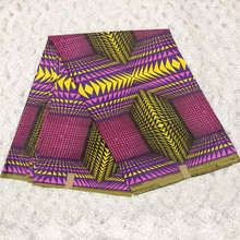 African java wax beautiful wholesale 6yards/pcs African veritable real wax prints ankara purple fabric For Garment BS073-30