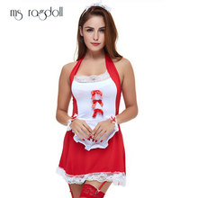 Buy Sexy Erotic Lingerie Maid Uniform Cosplay Black Red Baby Dress Underwear Women Costumes Sex Clothes Nightdress Role Play Suits