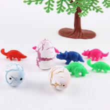 10pcs/set Novel Water Hatching Inflation Dinosaur Egg Watercolor Cracks Grow Egg Educational Toys (color send by random)