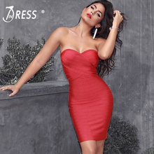 Buy INDRESSME Elegant Women Bandage Party Dress Sexy Strapless Slash Neck Backless Solid Mini Autumn Women Dress Vestidos 2017 New for $29.52 in AliExpress store