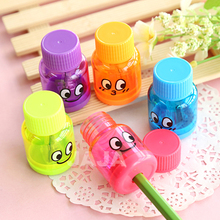 (1PC/lot) Cute bottle design pencil sharpeners Funny stationery pencils sharpener Office material School kids supplies(dd-1396)