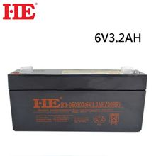 Wholesale HE deep cycle rechargeable battery 6v 3.2ah lead acid storage ups battery 133*34*60mm maintenance free 5 years life