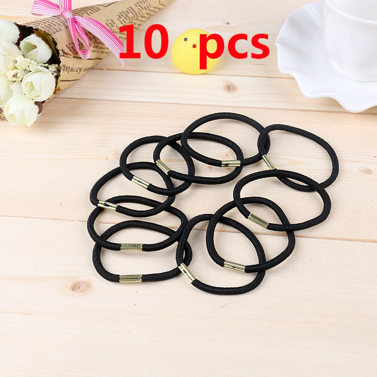 10Pcs Lovely  Crystal Elastic Hair Ties Band Ropes Ring Ponytail-Holder
