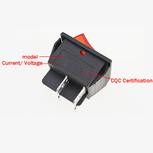 5pcs Red Lamp Light Rocker Switch with 4 Pin ON/OFF 2 Position 16A/250V For Switch Tools(China)