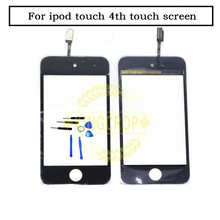 NEW Original Front Glass Touch Screen Digitizer Replacement for iPod Touch 4 4th 4G Black and White free shipping+tools(China)
