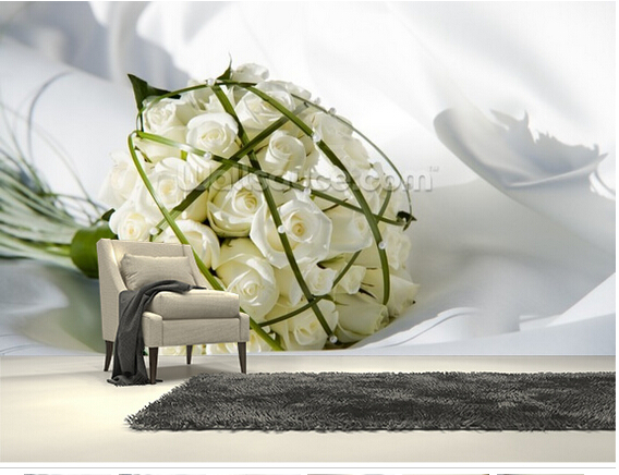 Custom floral wallpaper,bouquet on a white dress,3D photo mural for the living room bedroom kitchen background wallpaper<br><br>Aliexpress