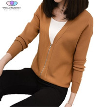 Buy TNLNZHYN 2017 Spring Autumn Women Sweater Fashion Zippers Women Short Knitted Cardigan Female Casual Cardigans Tops E84 for $22.94 in AliExpress store