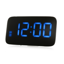 New Design Desk Clock LED Digital Alarm Clock Voice Control Time Display(China)