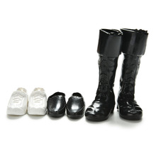 3 Pairs Fashion Dolls Cusp Shoes Sneakers Knee High Boots For Barbie Boyfriend Ken Children Dolls Accessories