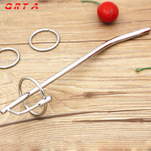 Buy QRTA Catheters 197mm stainless steel urethral sound toys Male Chastity Urethral Plugs Urethral Dilators Penis Plug sound toys
