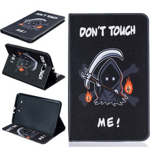 Funny Desgin PU Leather Back Cover Case Protective Shell For Samsung TAB E T560 T561 Clamshell Wallet Phone Case + Card Holder