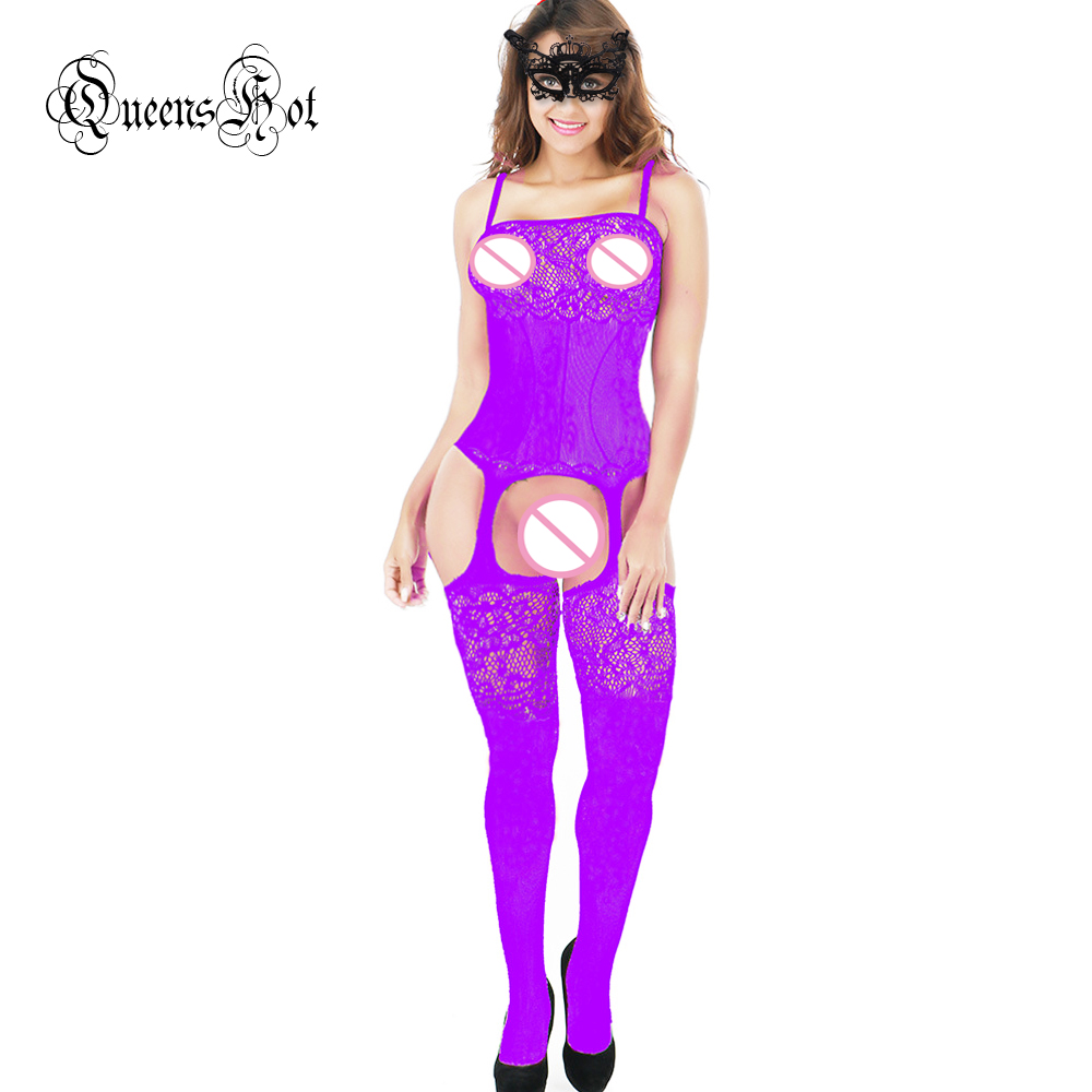 Women Lace Erotic Sexy Lingerie Babydoll Suspender Corset Basques Waistcoat Bodysuit Latex Catsuit Stocking Costumes + Eyemask 11