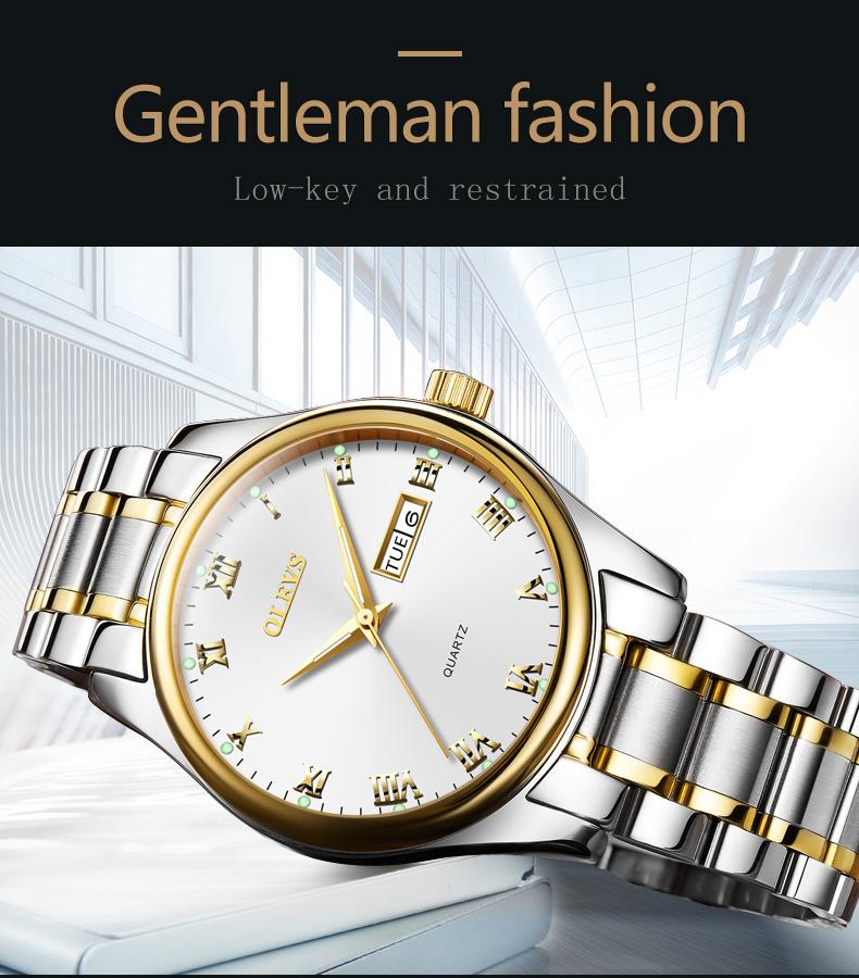 HTB1B1TabWmgSKJjSsphq6Ay1VXaa - OLEVS Luxury Men Gold Watches High Quality Watch Men's Quartz Date Clock Male Week Display Wristwatch Steel relogio masculino