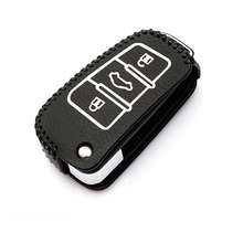 Good Sale car stiying  Leather Key Cover for Audi TT TTS RS A1 A3 A4 B6 B7 B8 A6 A5 A7 A8 Q3 Q5 S5 S6 S3 S4 ,3 Buttons fold key