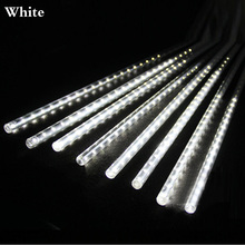 8PCS/SET 30CM Meteor Tube LED Meteor Shower Rain Tubes AC100-240V Christmas Lights Wedding Party Garden String Light Outdoor