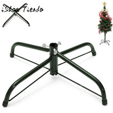 Christmas Tree Stand Green Metal Holder Base Cast Iron Stand 4 Feets Decor Kerst Decoratie Christmas Decorations for Home(China)