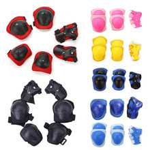 6pcs/set Skating Cycling Roller Protective Gear Set Knee Pads Elbow pads Skateboard Ice Skating Wrist Protector For Adult Kids