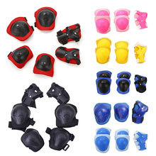 6pcs/set Skating Cycling Roller Protective Gear Set Knee Pads Elbow pads Skateboard Ice Skating Wrist Protector For Adult Kids(China)
