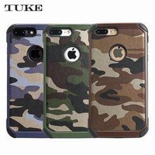 Buy Brand TUKE 2in1 Armor Camouflage Phone Cases iPhone 7 Plus Hybrid Plastic+TPU Army Camo Back Cover iPhone7 7Plus Case for $4.03 in AliExpress store