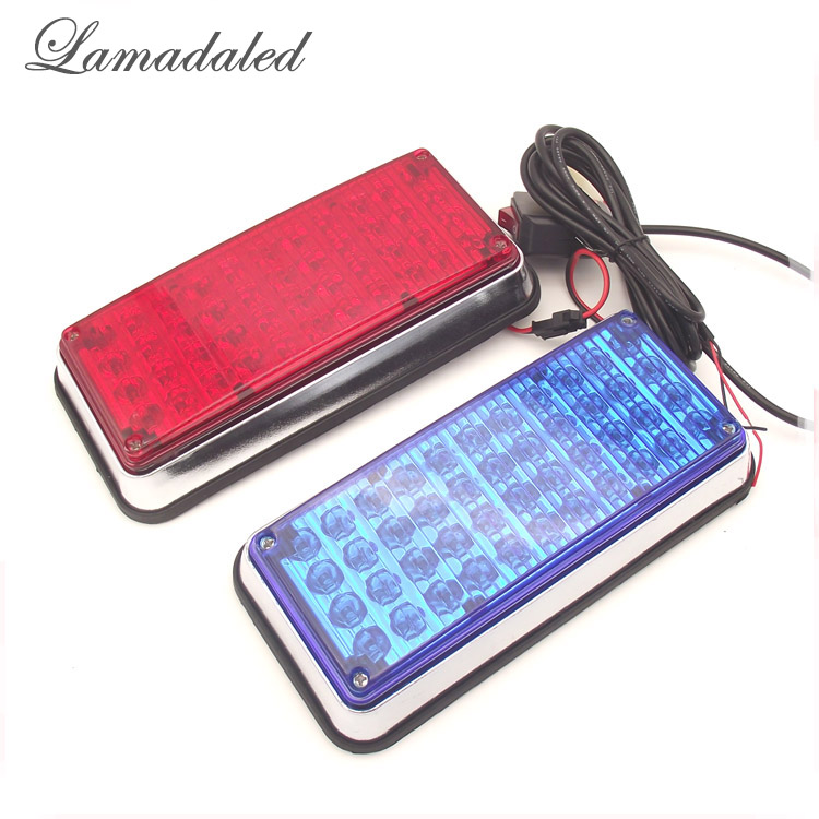 Lamadaled 2x44led red blue high bright emergency car surface strobe lights police vehicle side warning strobe lamp<br>