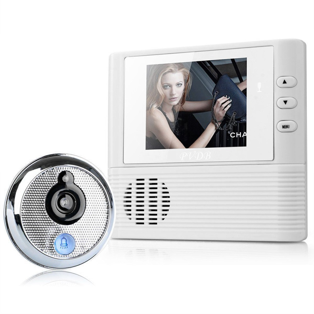 1pc Digital Door Peephole Video Doorbell 0.3M Night Vision Video Record Home Security Brand New<br>