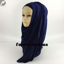 Colorful stripe cotton scarf soft smooth wholesale abaya instant shawl turban hijabs scarves jd017(China)