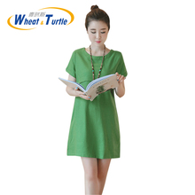 Hot Sale 2017 Summer Maternity Dress Fashion Soft Casual Short Sleeves Clothes For Pregnant Women Ultra Thin Pregnancy Dress(China)