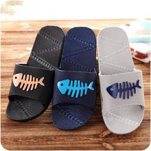Anti- slips Slipper Bathroom slipper with Fish Patterns Lovers Slipper Home Beach Summer Flat Shoes