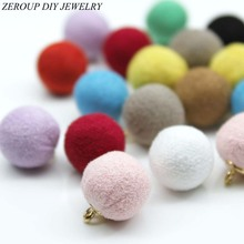 Buy Eardrop Wool Ball Stuff Goods Pendant Charms Earrings Accessories Supplies Jewelry Finding Diy Material 12pcs for $2.54 in AliExpress store