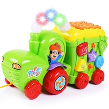 Hot Child Toys Infant Multifunctional Early Education Puzzle Electric Music Farmer Phone Toy Multicolored Learning Machine