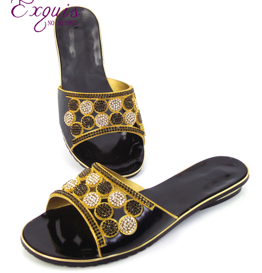 Womens summer low heel Slip on Toe Toe ring sandal rhinestone ring sandals sequined shoes  CT16-892<br><br>Aliexpress