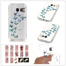 For Samsung Galaxy S7 G9300 Case Shatter-resistant Gas cushion shining Case Luxury Diamond Jewelry transparent TPU case(China)