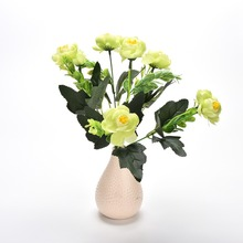 Artificial Fabric Flowers 6 Flower Heads Camellia Magnolia Floral Wedding Peony Bouquet Hydrangea Decor